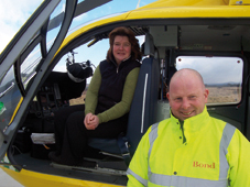 Cindy Cowling and air ambulance pilot max