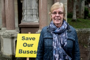 Betty Kisby, who uses the No.10 bus from Porlock to Minehead, two or three times a week. Photo: Andrew Hobbs