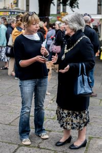 Exmoor Magazine Editor Naomi Marley interviews the Mayor of Minehead Jean Parbrook. Mayor Parbrook was also officially representing local MP Ian Liddell-Grainger Photo: Andrew Hobbs