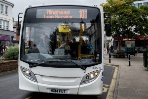The 101 town service is one of the threatened routes. It provides a vital link for people in Minehead with the shops and hospital. Photo: Andrew Hobbs