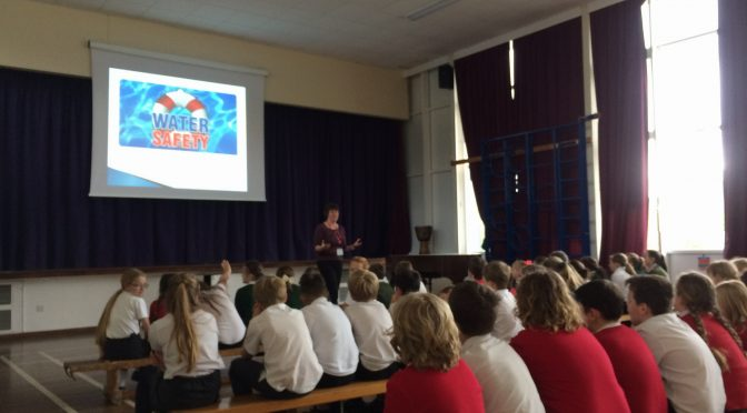 WATER SAFETY TRAINING AT DULVERTON SCHOOL AS PART OF THE DULVERTON WEIR PROJECT